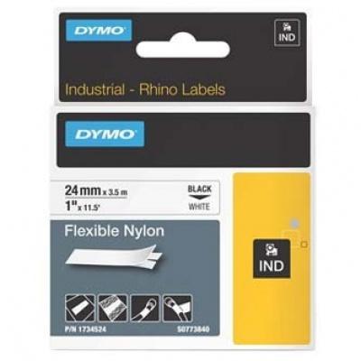 Dymo Rhino 1734524, S0773840, 24mm x 3,5m, černý tisk/bílý podklad, originální páska