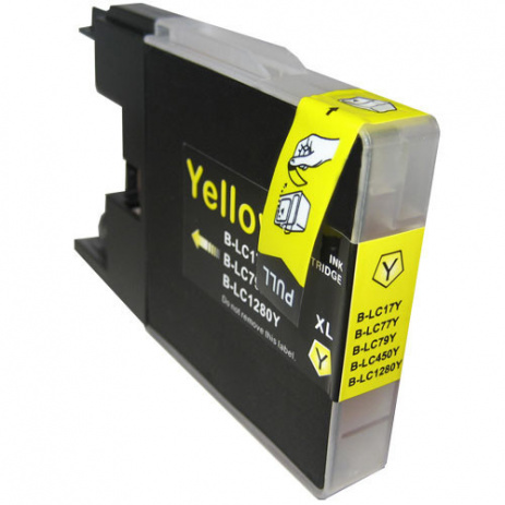 Brother LC-1240 / LC-1280 žltá (yellow) kompatibilná cartridge