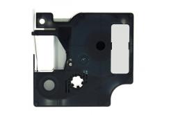 Kompatibilná páska s Dymo 1805437, Rhino, 9mm x 5,5m biela tlač / čierny podklad, vinyl