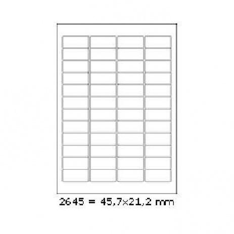 Öntapadós címkék 45,7 x 21,2 mm, 48 db / A4, 100 lap