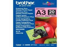Brother BP71GA3 Glossy Photo Paper, foto papír, lesklý, bílý, A3, 260 g/m2, 20 ks, BP71GA3, inkoustový