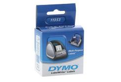 Dymo 11353, S0722530, 13mm x 25mm, bílé multifunkční papírové štítky