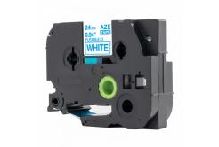 Kompatibilní páska s Brother TZ-FX253 / TZe-FX253, 24mm x 8m, flexi, modrý tisk / bílý pod