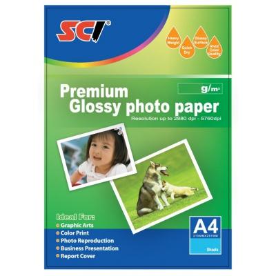 SCI GPP-180 Glossy Inkjet Photo Paper, 180g, A4, 20 listů, lesklý fotopapír