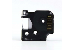 Kompatibilní páska s Dymo 45024, S0720640, 12mm x 7m zlatý tisk / černý podklad