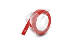 Kompatibilní páska s Dymo S0898150, 9mm x 3m, bílý tisk / červený podklad