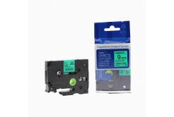 Kompatibilní páska s Brother TZ-721 / TZe-721, 9mm x 8m, černý tisk / zelený podklad
