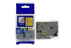 Kompatibilná páska s Brother TZ-821 / TZe-821, 9mm x 8m, čierna tlač / zlatý podklad