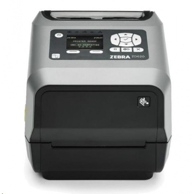 "Zebra ZD620 ZD62143-T0EL02EZ TT drukarka etykiet, 4"" LCD 300 dpi, USB, USB Host, RS232, LAN, 802.11, BT ROW"