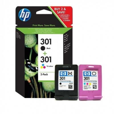 HP č.301 N9J72AE černá/barevná (black/color) originální cartridge