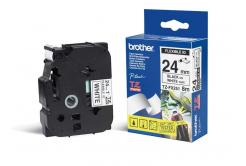 Brother TZ-FX251 / TZe-FX251, 24mm x 8m, černý tisk/bílý podklad, originální páska
