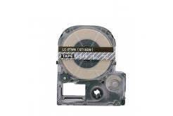 Epson LC-ST18SW, 18mm x 8m, bílý tisk / průhledný podklad, kompatibilní páska