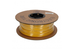 Označovací oválná PVC bužírka, BF-40Z, 4 mm, 150 m, žlutá