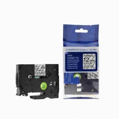 Kompatibilní páska s Brother TZ-FX131/TZe-FX131, 12mm x 8m, flexi černý tisk / průhledný podklad