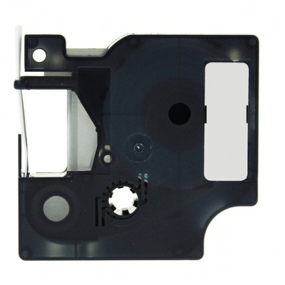Kompatibilní páska s Dymo 18487, 19mm x 5, 5m černý tisk / metalický podklad, polyester
