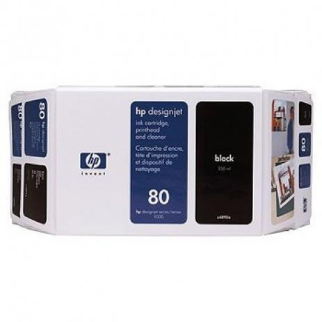 HP 80 C4871A fekete (black) eredeti tintapatron