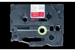 Brother TZ-RW34 / TZE-RW34, 12mm x 4m, zlatý tisk / červený podklad, originální páska