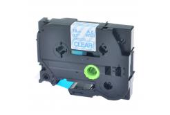 Kompatibilní páska s Brother TZ-143 / TZe-143, 18mm x 8m, modrý tisk / průhledný podklad