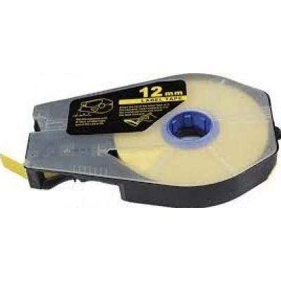Kompatibilní samolepicí páska pro Canon M-1 Std/M-1 Pro, 12mm x 30m, kazeta, žlutá