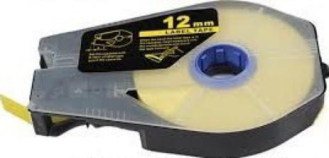 Kompatibilná samolepiaca páska pre Canon M-1 Std/M-1 Pro / Partex, 12mm x 30m, kazeta, žltá