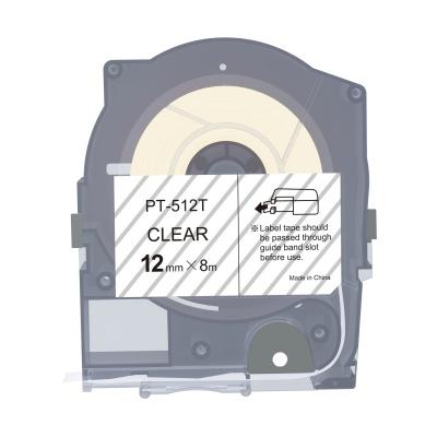 Max LM-512T, 12mm x 8m, průhledná kompatibilní páska