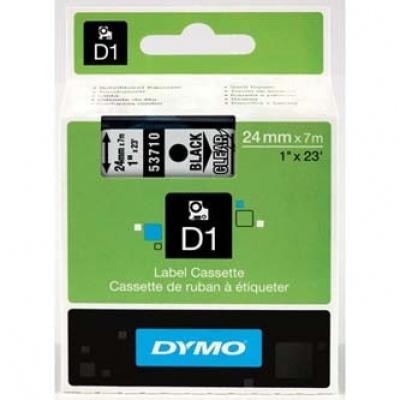 Dymo D1 53710, S0720920, 24mm x 7m černý tisk / průhledný podklad, originální páska