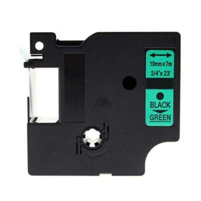 Kompatibilní páska s Dymo 45809, S0720890, 19mm x 7m, černý tisk / zelený podklad