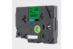 Kompatibilní páska s Brother TZ-FX731 / TZe-FX731, 12mm x 8m, flexi, černý tisk / zelený p