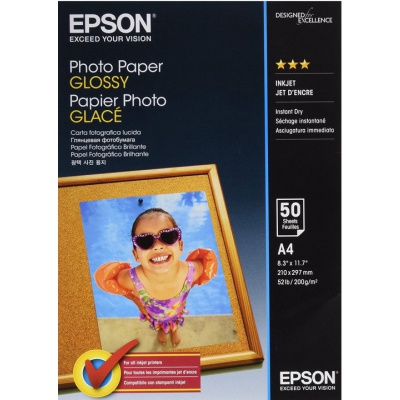 Epson Photo paper, foto papír, lesklý, bílý, A4, 200 g/m2, 50 ks, C13S042539, inkoustový