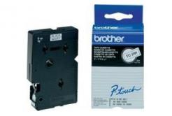 Brother TC-291, 9mm x 7,7m, černý tisk / bílý podklad, originální páska