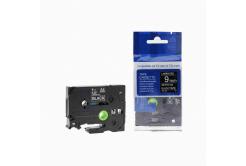 Kompatibilní páska s Brother TZ-325 / TZe-325, 9mm x 8m, bílý tisk / černý podklad