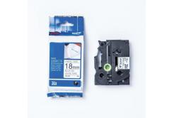 Brother TZE-FA4 / TZe-FA4, 18mmx3m, modrý tisk/bílý podklad, originální páska zažehlovací