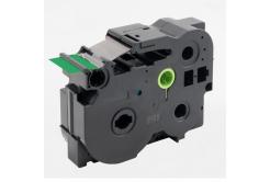 Kompatibilní páska s Brother TZ-FX761 / TZe-FX761, 36mm x 8m, flexi, černý tisk / zelený p