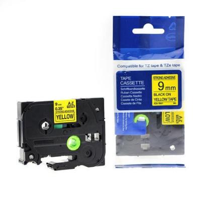 Kompatibilní páska s Brother TZ-S621/TZe-S621 9mm x 8m extr.adh. černý tisk/žlutý podklad
