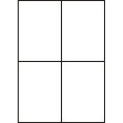 Samolepicí etikety 105 x 148 mm, 4 etikety, A4, 100 listů