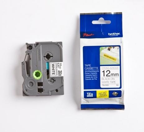 Brother TZ-S231 / TZe-S231, 12mm x 8m, černý tisk/bílý podklad, originální páska