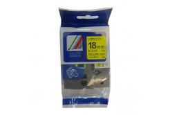 Kompatibilní páska s Brother TZ-S641/TZe-S641 18mm x 8m extr.adh. černý tisk/žlutý podklad