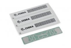 "Zebra 10018344K RFID Wristband, Polypropylene, 30,2x279,4mm, TT, HF RFID Clip, Coated, 1"" core, 125/roll, Yellow"