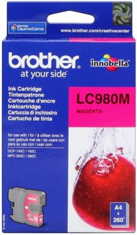 Brother LC-980M bíborvörös (magenta) eredeti tintapatron
