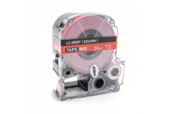 Epson LC-SD24RW, 24mm x 8m, bílý tisk / červený podklad, kompatibilní páska