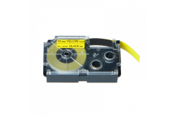 Kompatibilná páska s Casio XR-12YW1, 12mm x 8m, čierna tlač/žltý podklad