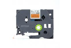 Kompatibilní páska s Brother TZ-B51/TZe-B51, signální 24mm x 8, černý tisk/oranž. podklad