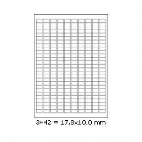 Öntapadós címkék 17,8 x 10 mm, 270 db / A4, 100 lap