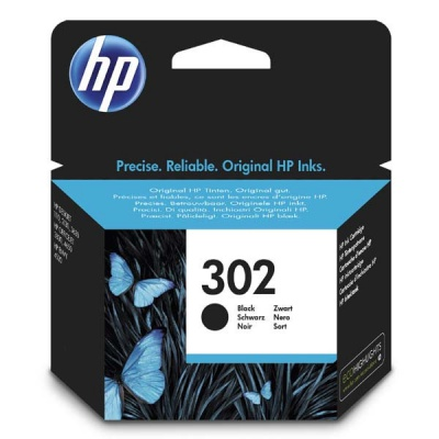 HP 302 F6U66AE černá (black) originální inkoustová cartridge