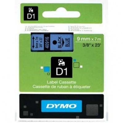 Dymo D1 40916, S0720710, 9mm x 7m černý tisk / modrý podklad, originální páska