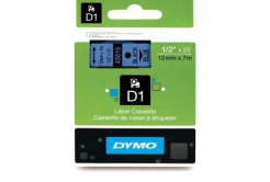 Dymo D1 45016, S0720560, 12mm x 7m černý tisk / modrý podklad, originální páska