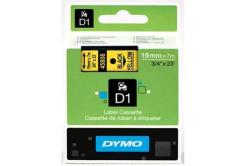 Dymo D1 45808, S0720880, 19mm x 7m, černý tisk/žlutý podklad, originální páska