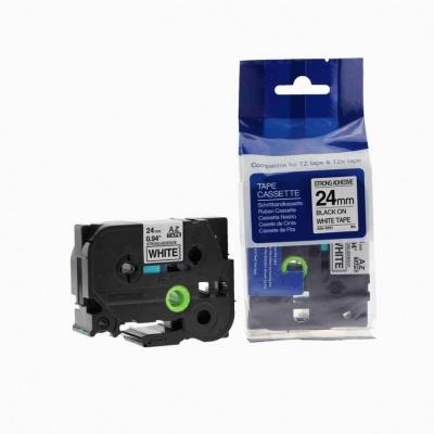 Kompatibilní páska s Brother TZ-S251/TZe-S251 24mm x 8m extr.adh. černý tisk/bílý podklad