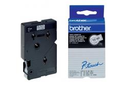Brother TC-101, 12mm x 7,7m, černý tisk / průhledný podklad, originální páska