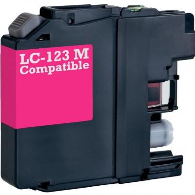 Brother LC-123 purpurová (magenta) kompatibilní cartridge